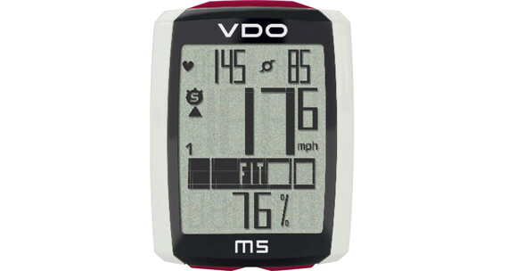VDO M5 WL fietscomputer draadloos met digitale radio